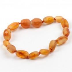 Bracelet en ambre pour bébé perles grain de café-Caramel
