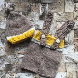 Ensemble en laine douce 6/12 mois, modèle Ilhan
