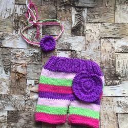 Ensemble en laine douce 3/6 mois, modèle Ula