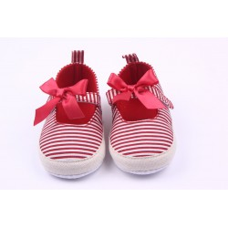 Sandalette espadrille bébé, modèle Sailor rouge