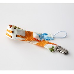 Attache sucette ruban modèle print girafe