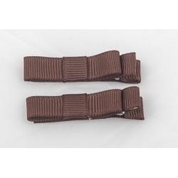 Lot de 2 barrettes crocodile modèle uni à petit noeud, couleur au choix