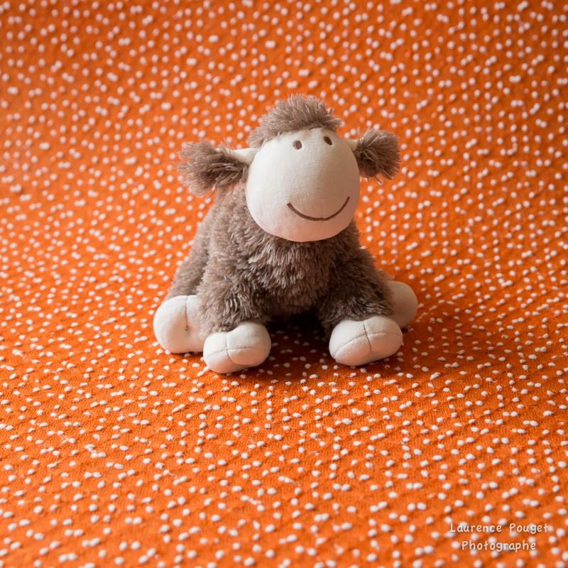 Backdrops texturés flocons coloris cuivre