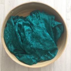 Vert émeraude - Wrap en dentelle séance photo bébé ou maternité