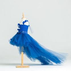 Robe créateur modèle Nikita couleur bleu électrique
