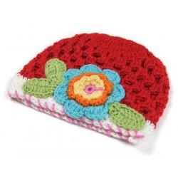 Bonnets bébé fille boule Rétro Fleur 0 - 3 ans