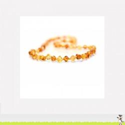 Collier d'Ambre bébé perle ronde couleur multiple