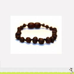 Bracelet d'Ambre perles rondes non polies