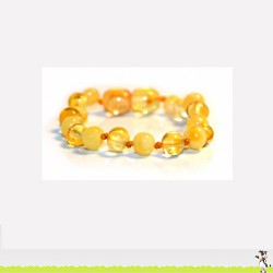 Bracelet d'Ambre perles rondes