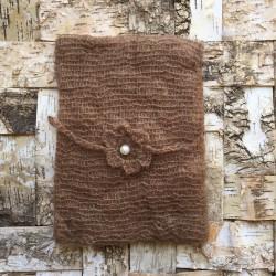 Set wrap et bandeau en mohair, modèle choc (réf.1)