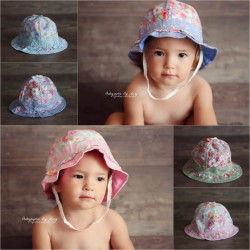 Chapeau de soleil bébé  46-50 cm, 4 modèles au choix