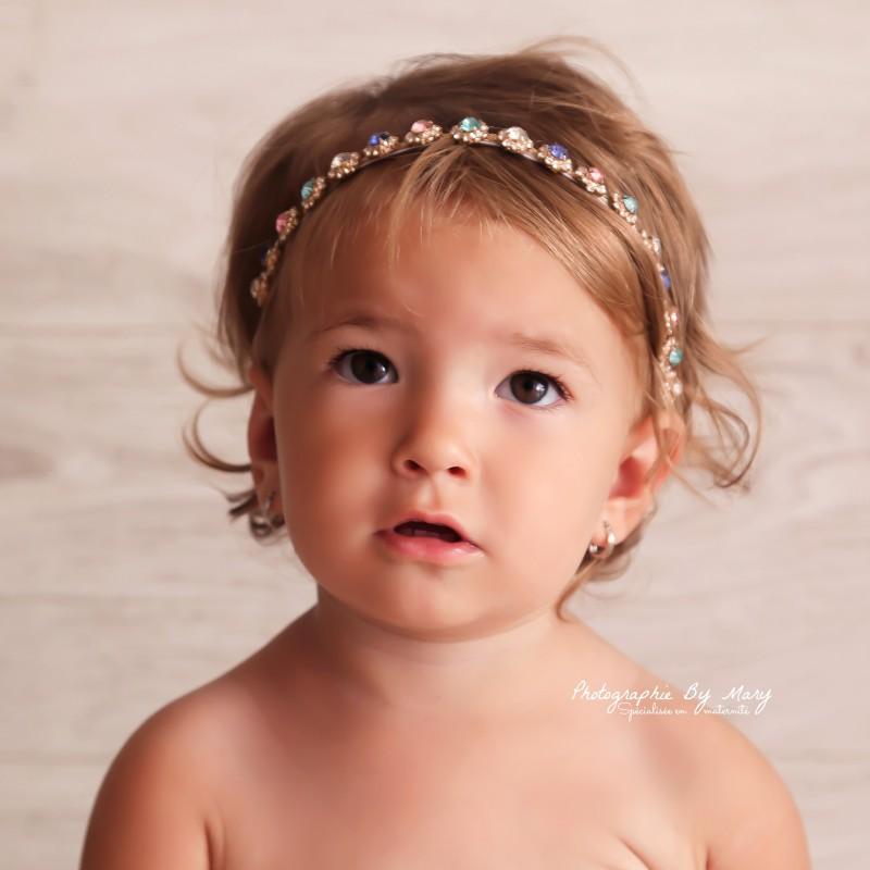 Bandeau couronne en strass, modèle Nina