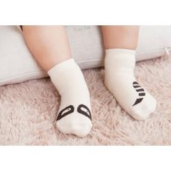 Chaussette chausson de 0 à 3 ans avec picots anti-glisse, modèle au choix