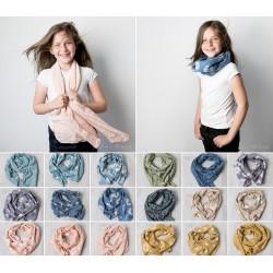 Chèches foulards modèle mixte 1 à 5 ans rose