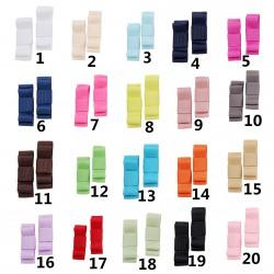 Lot de 2 barrettes noeud unis,  20 couleurs au choix