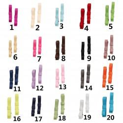 Lot de 2 barrettes crocodile modèle gros noeud unis,  20 couleurs au choix