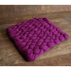 Tapis épais modèle Savannah en véritable laine mérinos, couleur au choix