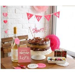 Guirlande décoration de gâteau Love