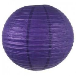 Lanterne ronde violette, taille au choix