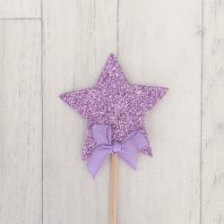 Décoration gâteau étoile, couleur au choix