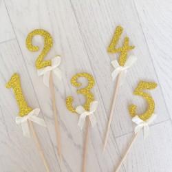 Décoration gâteau anniversaire, chiffre au choix