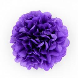 Pompon en papier de soie violet, taille au choix