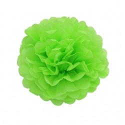 Pompon en papier de soie vert clair, taille au choix