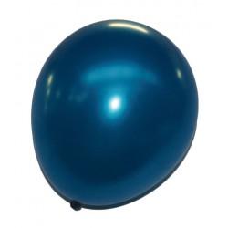Lot de 6 ballons bleu métallisé