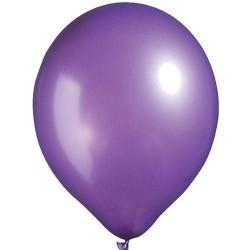 Lot de 6 ballons violet métallisé