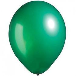 Lot de 6 ballons vert métallisé