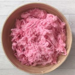 Morceaux de laine duvetteuse pour remplir vos contenants, modèle rose  (réf12)