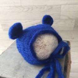 Bonnet mohair modèle Ourson, couleurs au choix