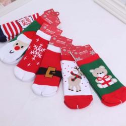 Chaussettes bouclette thème Noël (par 5) taille 18/24