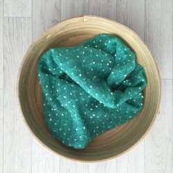 Wraps pour séances new born, modèle Flocon vert d'eau