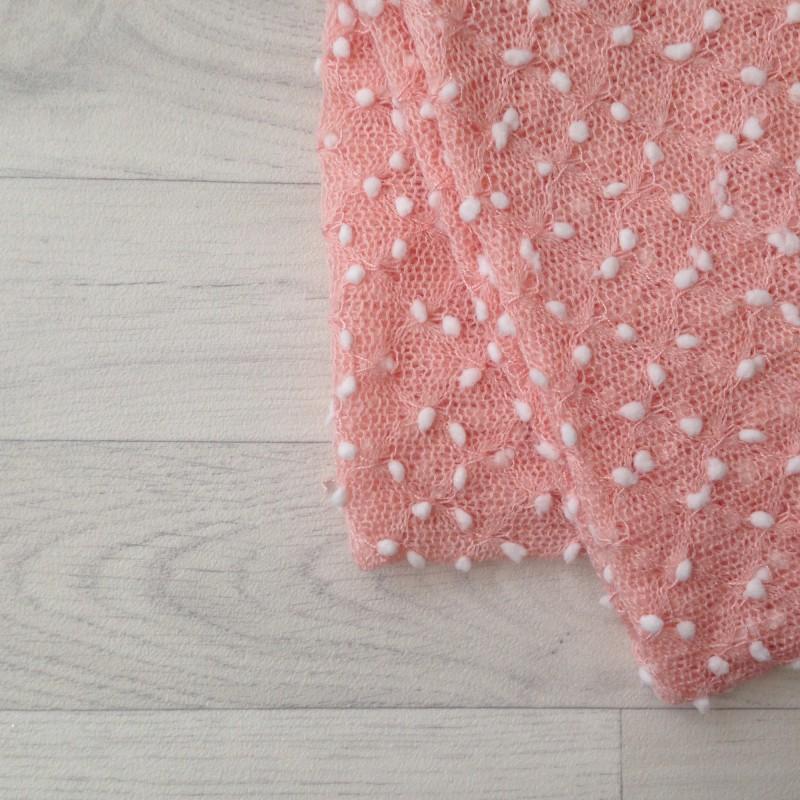 Backdrops texturés flocons coloris rose poudré