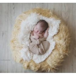 Pose bébé ou backdrop crème, taille au choix