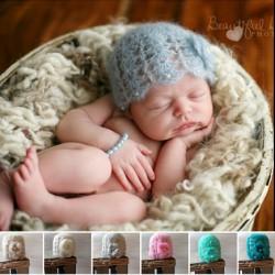 Bonnet mohair modèle Perline, couleurs au choix