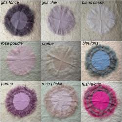 Corole de laine mérinos feutrée à poils longs, couleur au choix