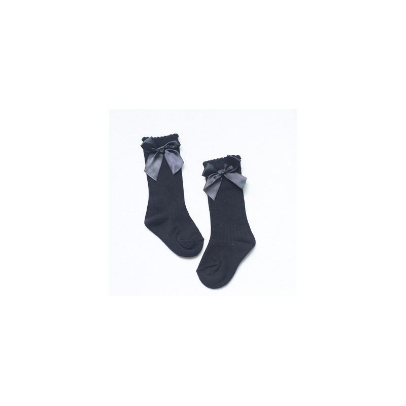 chaussures de séparation 08c59 4115c Chaussettes hautes montantes petit noeud sur sur le coté 0 à 4 ans