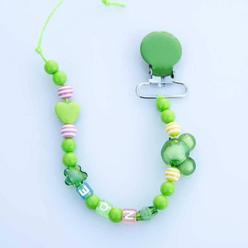 """Attache sucette à personnaliser, modèle """"Minnie/Mickey"""" multicolores 2"""