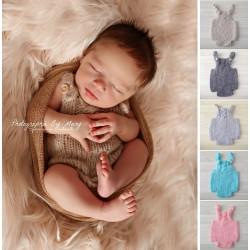 Body torsade nouveaux nés en mohair, couleur au choix