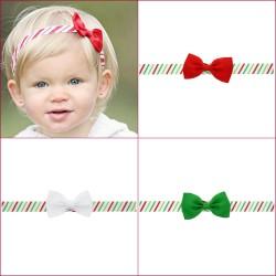 Bandeaux noeud ruban thème Noël, couleur au choix
