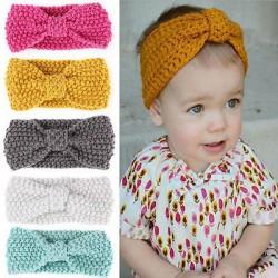 Bandeaux en laine chaude turban noué, 0 à 6 ans