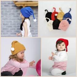 Bonnet lutin fine maille 1 à 6 ans, couleur au choix