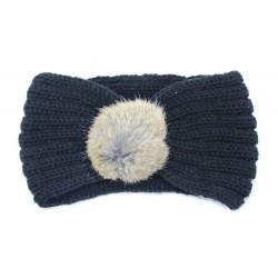 Bandeaux laine, modèle Pomponette, à partir de 3 ans