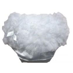 Culotte bébé bloomer,cache couche,Modèle blanc de 0 à 3 ans
