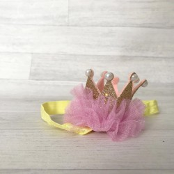 Bandeaux couronne pailletée, modèle JESAISPASCOMMENTLAPPELLER, couleur au choix