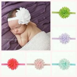 Bandeau cheveux bébé, modèle fines pétales soyeuses