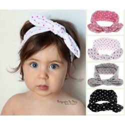 Bandeaux coton collection à petits pois, coloris au choix