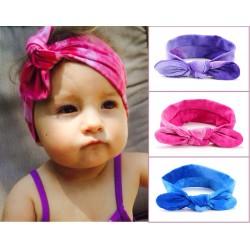 Bandeau en coton noué modèle tie and dye, couleur au choix